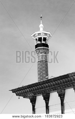 In Iran    Minaret Near   The  Sky