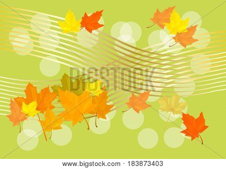 Vector autumn background.Autumn - the perfect time of the year
