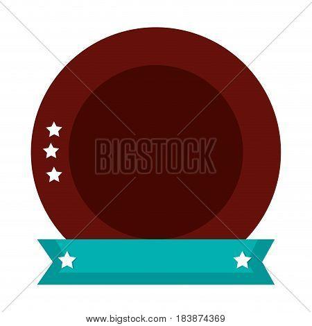 emblem with stars icon vector illustration design
