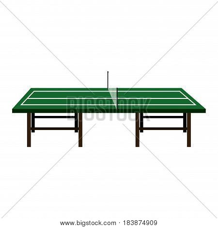 ping pong table isolated icon vector illustration design