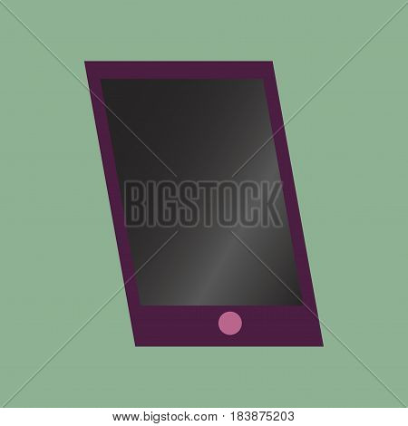 Technology gadget in flat design mobile phone