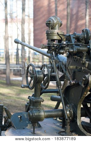 Soviet weapon of the second world war, the exhibit of a military Museum under the open sky,