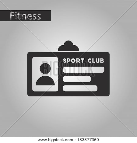 black and white style icon Personal card sports club