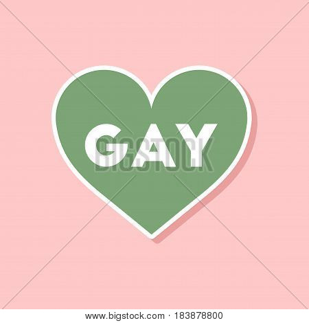 paper sticker on stylish background gays homosexual heart