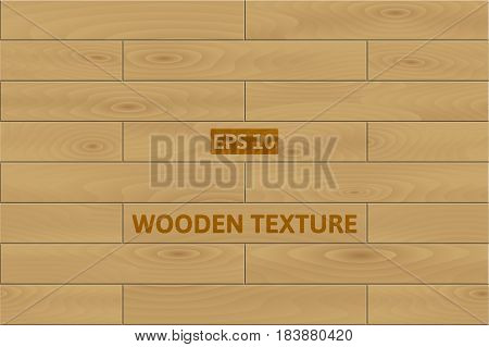Vector wooden background. Light brown wood planks texture.