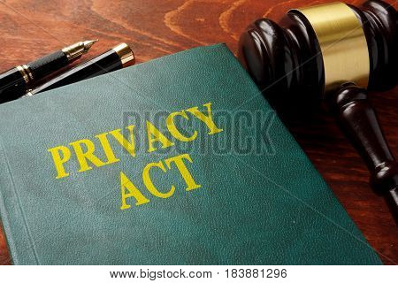 Title privacy act on the book on a table.