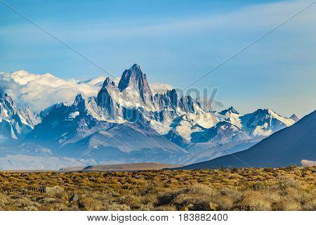 Snowy Andes Mountains, El Chalten, Argentina