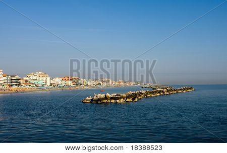 Adriatic coast landscape, Bellaria, Italy