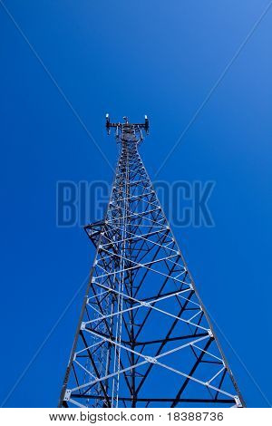 GSM cellsite antenna array for the cellular telephone system on a tower