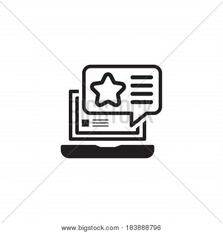 Promotion Icon. Flat Design. Isolated Illustration. App Symbol or UI element. Laptop and Web Page with Popup Offer.