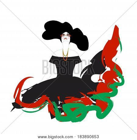 vector illustration of fashion woman on a white background