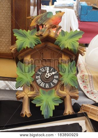 Cuckoo clock for sale at the flea market.