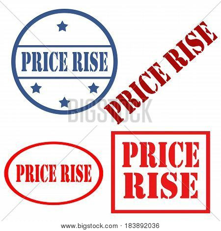 Set of stamps with text Price Rise,vector illustration