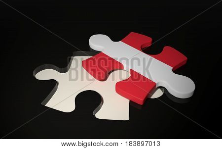 Austrian Flag Puzzle Piece - Flag Of Austria.