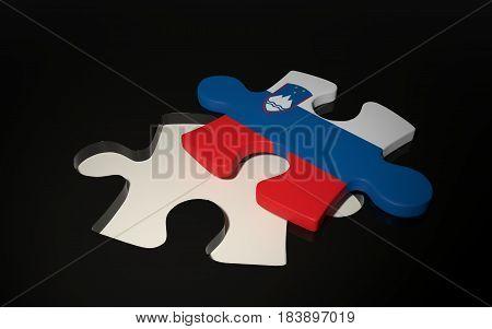 Slovenian Flag Puzzle Piece - Flag Of Slovenia
