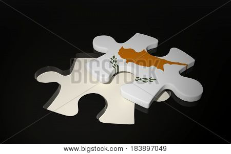 Cyprian Flag Puzzle Piece - Flag Of Cyprus.