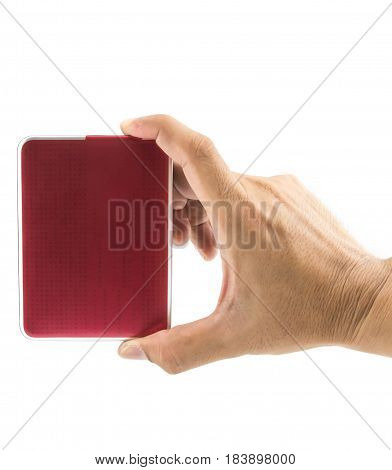 Hand And The Harddisk External Number Digital