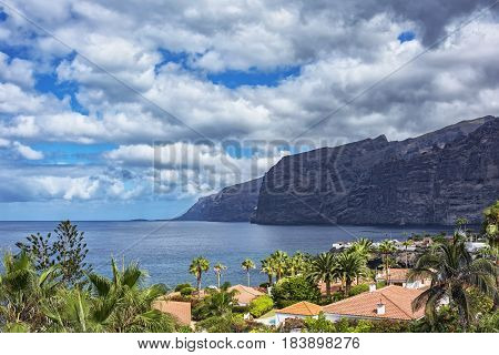 High cliffs of Los Gigantos on the island of Tenerife (Canary Islands Spain)