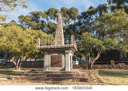 MONTAGU SOUTH AFRICA - MARCH 26 2017: A monument in Montagu commemorating the centenary in 1938 of the Big Trek