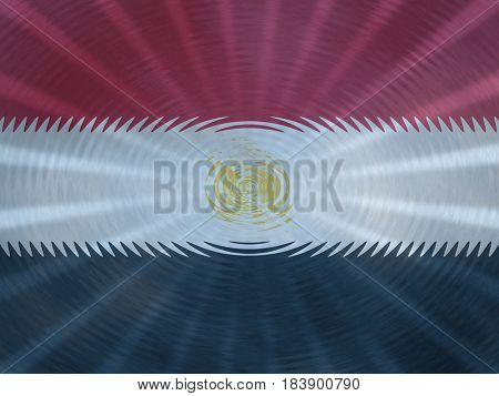 Egypt flag background with ripples and rays illustration
