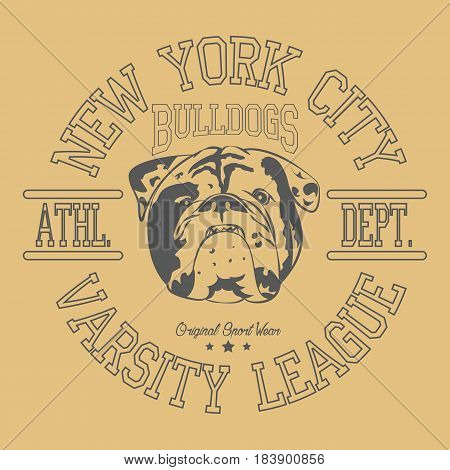 New York Sport wear, sport typography emblem, t-shirt stamp graphics, athletic apparel design