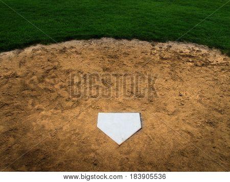 Home plate baseball sport american
