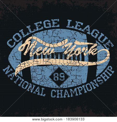 New York  Sport wear typography emblem, american football, vintage,  college, sports graphics for t-shirt