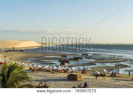 Jericoacoara, Ceara, Brazil - Circa May 2016 - Jericoacoara beach viewed from above