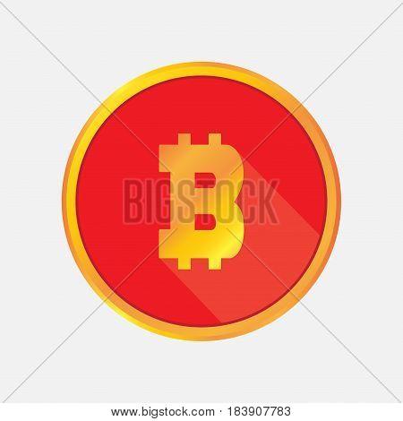 Cripto currency Bitcoin flat vector logo, sticker for print. money symbol-sticker , icon for web .