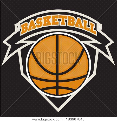 Basketball t-shirt graphic design. Streetball team typography emblem, Print for sportswear apparel. vector poster