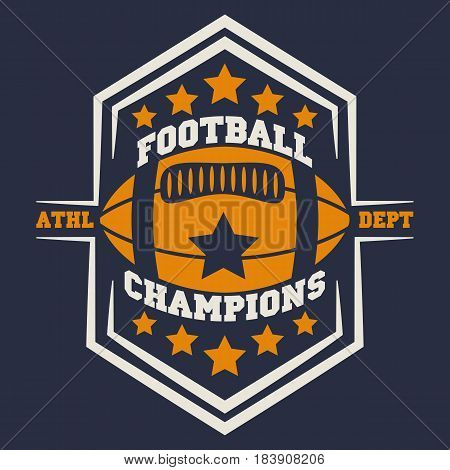 american football, vintage graphics, college graphics, sports graphics for t-shirt.
