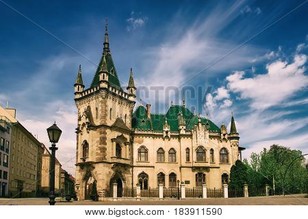 View of Jakabov Palace in the old town in Kosice, Slovakia