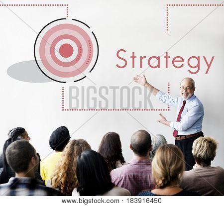 Business Achievement Goal Mission Plan Strategy Icon Symbol