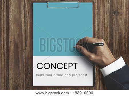 Hand design the identity branding business trademark