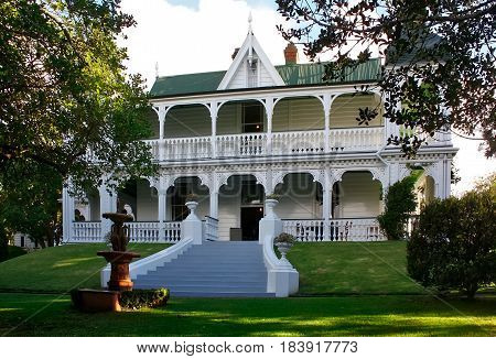 Alberton -  Situated on the lower slopes of Mt Albert and once the centrepiece of a 500-acre country estate, Alberton began life as a two-storey farmhouse built in 1863. In 1872 Alberton was expanded to a fashionable, 18-room mansion