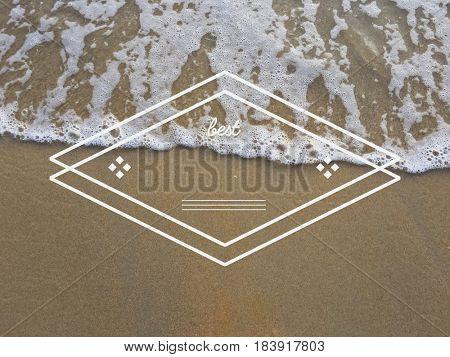 Badge Banner Diamond Frame Blank Copy Space