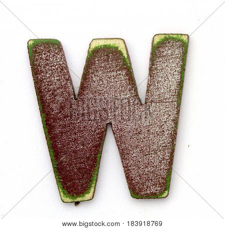 W wooden letter