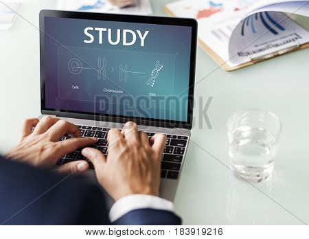 Graphic of biology scientific experiment research