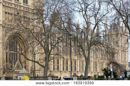 London, UK - March 16, 2017: Westminster Abbey (Collegiate Church of St Peter at Westminster) - Gothic church in City of Westminster London.