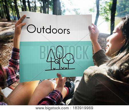 Wanderlust Outdoor Vacation Trip Icon