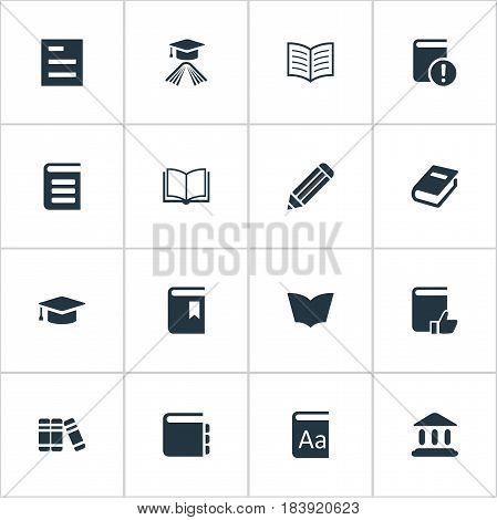 Vector Illustration Set Of Simple Knowledge Icons. Elements Reading, Blank Notebook, Notebook And Other Synonyms Notebook, Favored And Recommended.