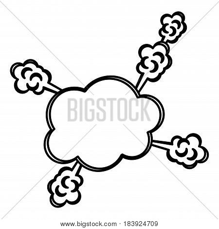 monochrome silhouette callout anger for dialogue with thick contour vector illustration