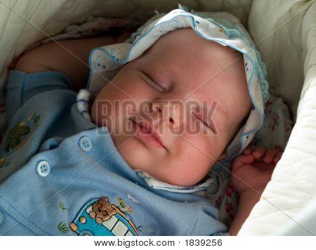Smiling Sleeping Boy