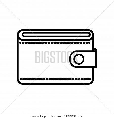 line wallet to save money, vector illustration design