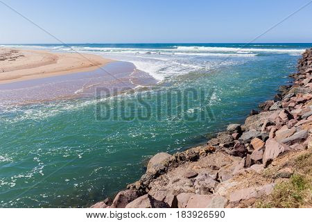 Beach Rivermouth Ocean