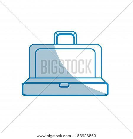 contour elegant suitcase open, vector illustration design