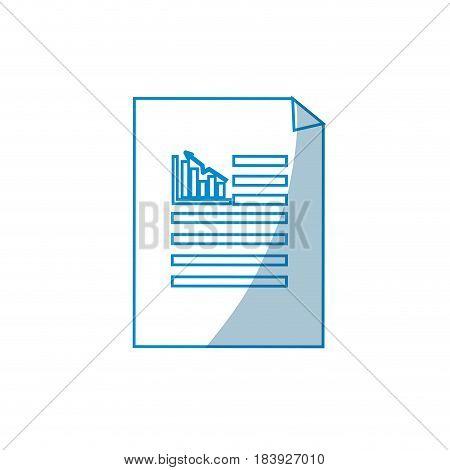 contour business statistics strategy data documents, vector illustration