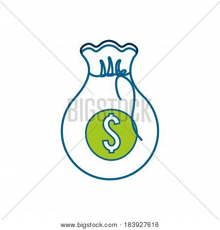 white bag with money inside, vector illustration design