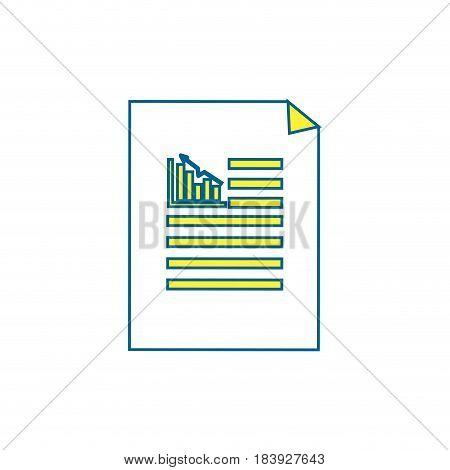 business statistics strategy data documents, vector illustration