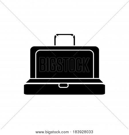 silhouette elegant suitcase open, vector illustration design